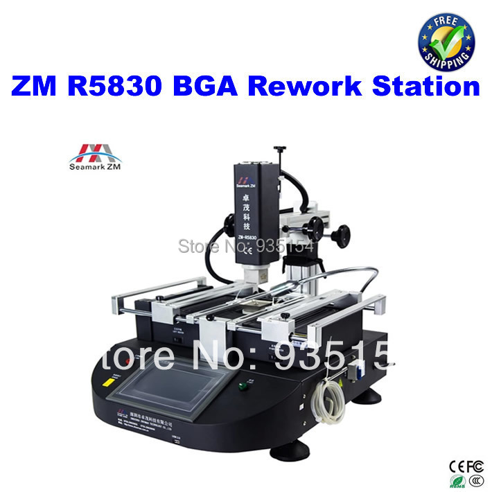ZHUOMAO ZM R5830 BGA Rework Station, 3 temperature zones, with touch screen control panel bga rework machine ly 5830c hot air 3 zones for laptop motherboard chip repair 4500w zm r5830