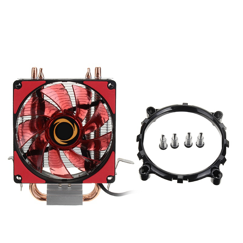High Quality Dual LED CPU Fan Heatsink Radiator 9cm For Intel LGA1155X/1151 AMD Socket New computer Cooling Fan Cooler For cpu 3pin 12v cpu cooling cooler copper and aluminum 110w heat pipe heatsink fan for intel lga1150 amd computer cooler cooling fan