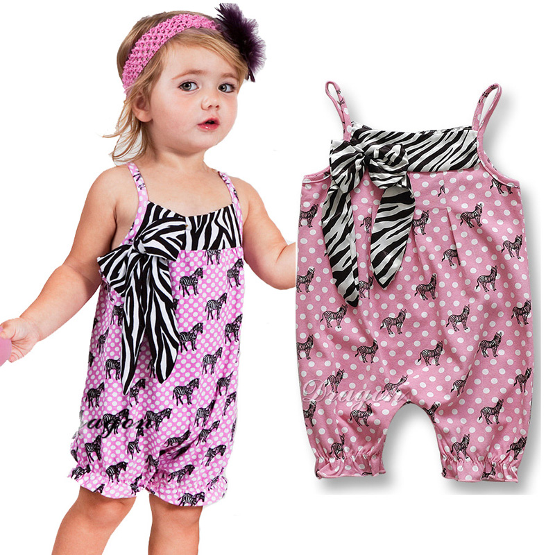 Gigh quality Baby Romper Zebra Printed Toddler girl romper Suspenders pink baby girl clothes new design recem nascido menino