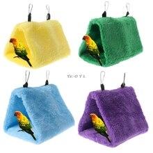 Домашнее Животное попугай гамак птица висячая Кровать Дом плюшевая зимняя теплая клетка-гнездо палатка