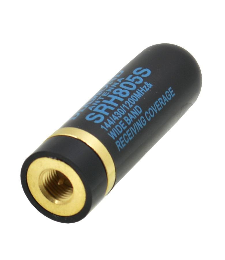 imágenes para SSR-805S Sma-macho 144/430/1200 MHz y 120/150/300/450/800/900 MHz Antena para BaoFeng UV-3R UV100 UV200 LT 6100/6188 radio de Dos vías