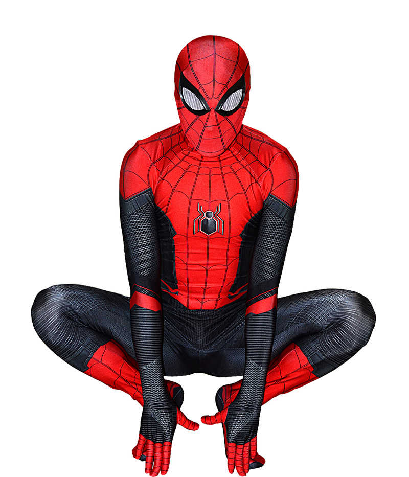 Jauh dari Spider-Man Kostum Halloween Cosplay Superhero Jumpsuit Spiderman Mewah Spiderman Kostum Baju