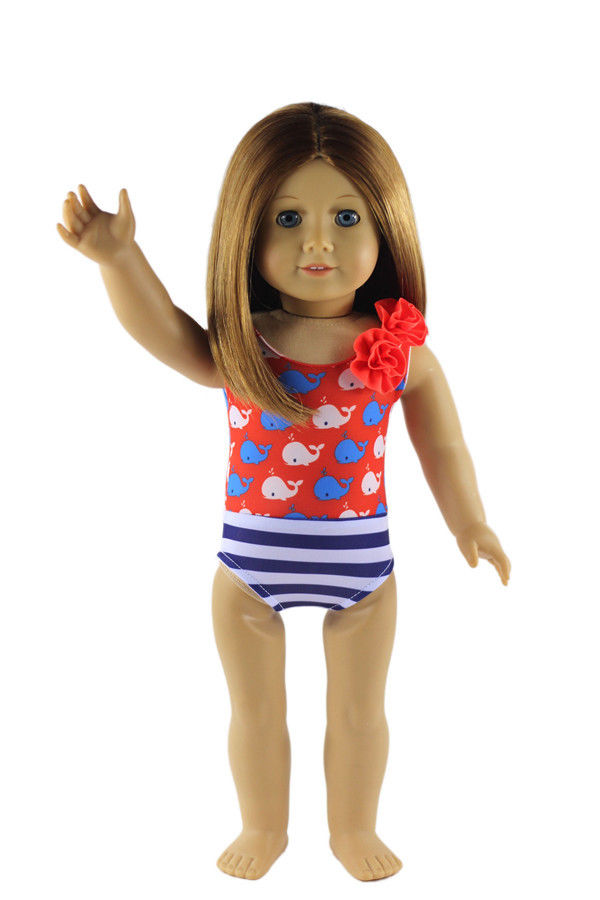 Christmas gift for 18 inch American girl doll swimsuit, giving children the best gift the giving quilt