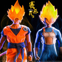 1/6 Scale Collectible Full Set Japanese Anime Dragon Ball Saiyan warrior Son Goku/Vegeta Head Clothes Set for 12'' Figure Body