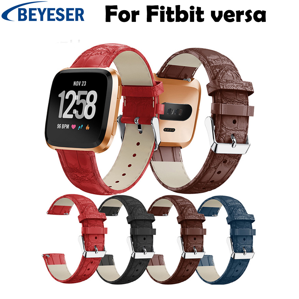 New Arrival Band For Fitbit Versa Wristband Wrist Strap Watch Leather Watchband Replacement