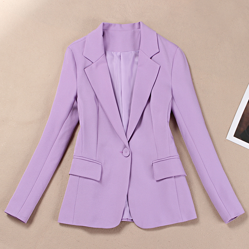 Small Suit Suit Female Temperament Purple Suit Autumn Professional Korean Slim Women's Jacket 2019