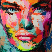 Oil Wall Painting Abstract Face by Neilly Modern Art for Living Room Home Decoration Customized