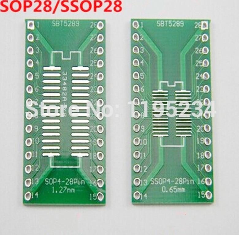 20 Stücke TSSOP28 SSOP28 Auf DIP28 Pinboard Smd Auf Adapter 0,65 1,27MM mw