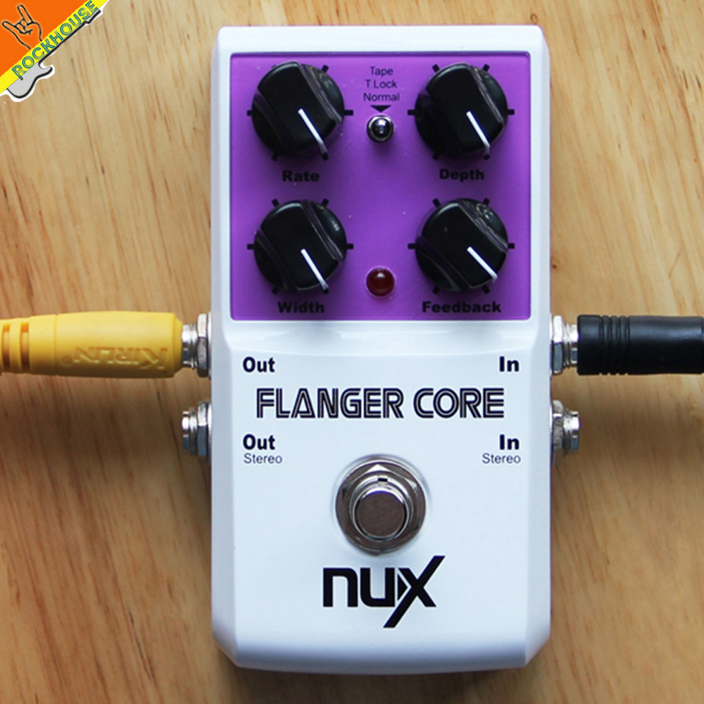 NUX Flanger Core Flanger Guitar Pedal Analog Flanger Effects Pedal Rate Depth Mix Feedback adjustable True Bypass Free Shipping mooer ensemble queen bass chorus effect pedal mini guitar effects true bypass with free connector and footswitch topper