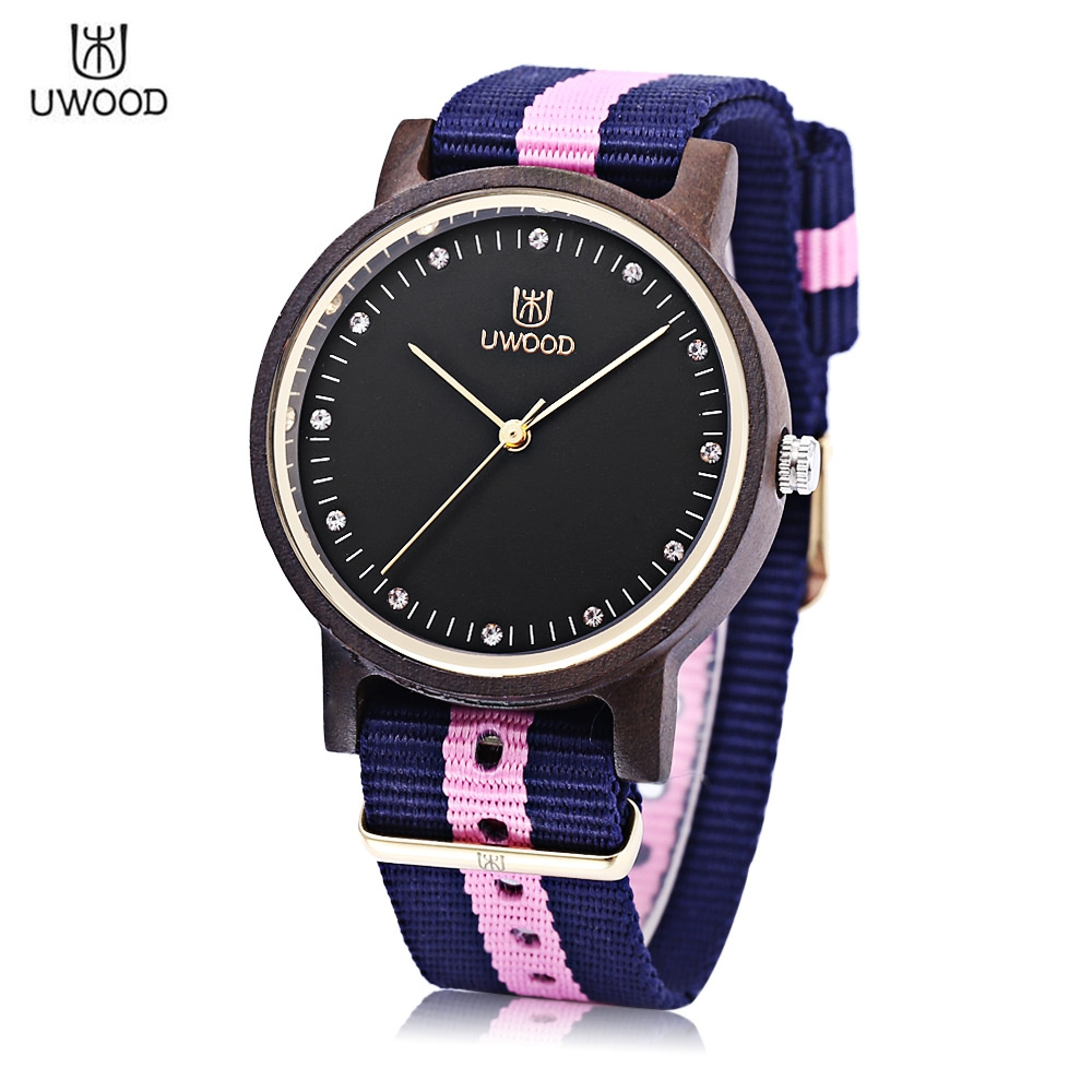 Uwood women wooden quartz watch japan movt artificial diamond dial wristwatch us579 for Celebrity quartz watch japan movt