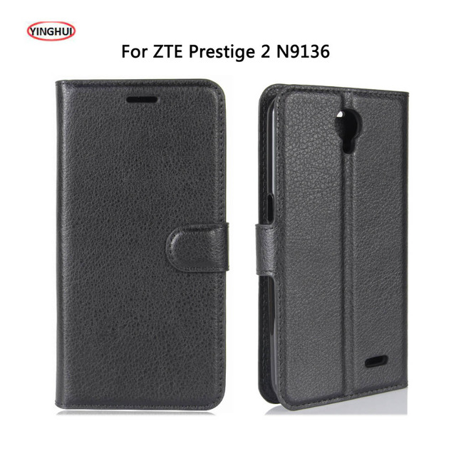 YINGHUI For ZTE Prestige 2 N9136 Case Wallet PU Leather Phone Case Cover For ZTE Prestige 2 Prestige2 N9136 Flip Back Bags Skin