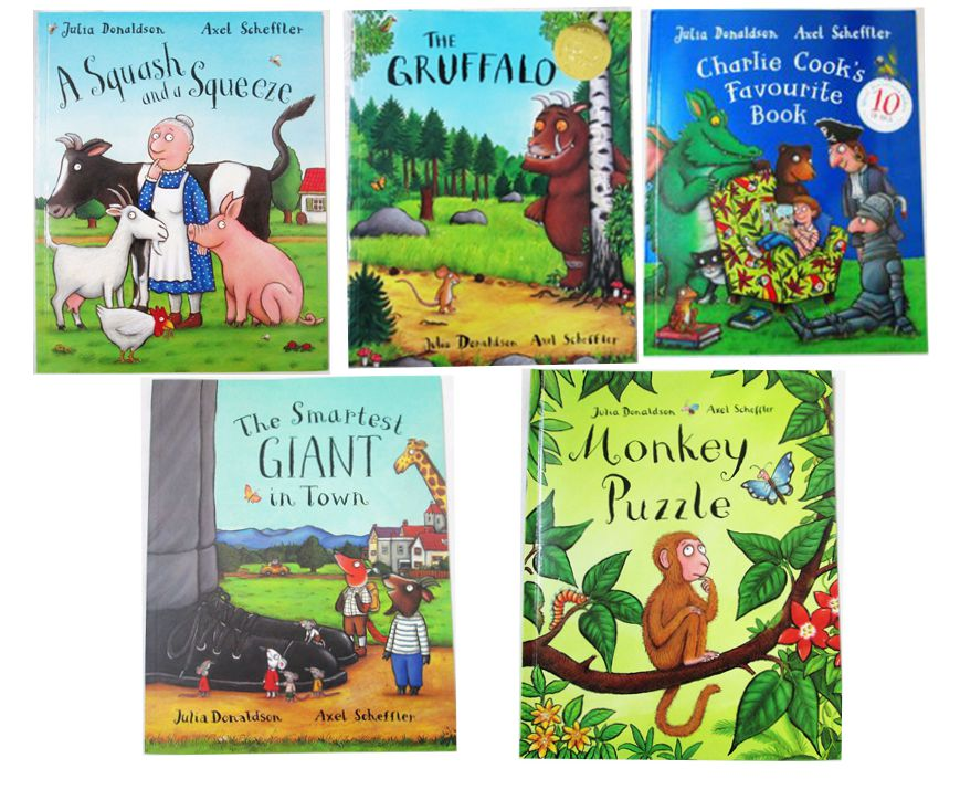 Send Random 4PCS English Children's Book Masters Of the Gruffalo Julia Donaldson Works series of Picture Books Education book подвесная люстра reccagni angelo l 9250 6