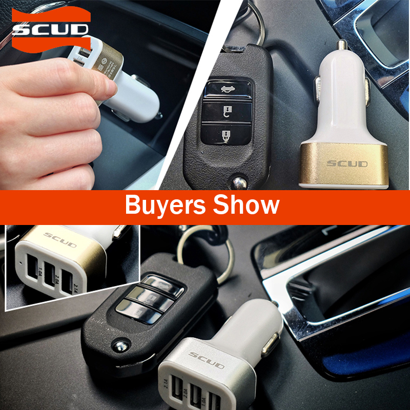 US $8.59 |Scud 3 USB 3A ładowarka samochodowa do telefonu komórkowego ładowarka samochodowa urządzenie iPhone 7 6S PLUS Samsung tablety ładowarka