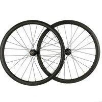 25mm U shape Cyclocross Disc Brake Carbon Wheels Clincher Tubular Wheels U shape Carbon road bike Disc Wheelset