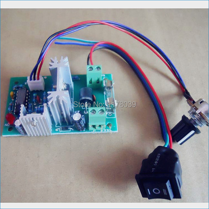 12v24v dc motor speed controller 120w power a small motor for Small dc motor speed control
