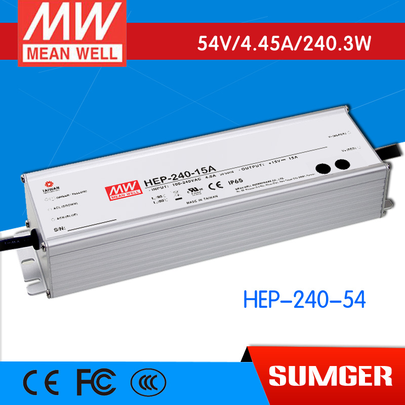 1MEAN WELL original HEP-240-54 54V 4.45A meanwell HEP-240 54V 240.3W Single Output Switching Power Supply