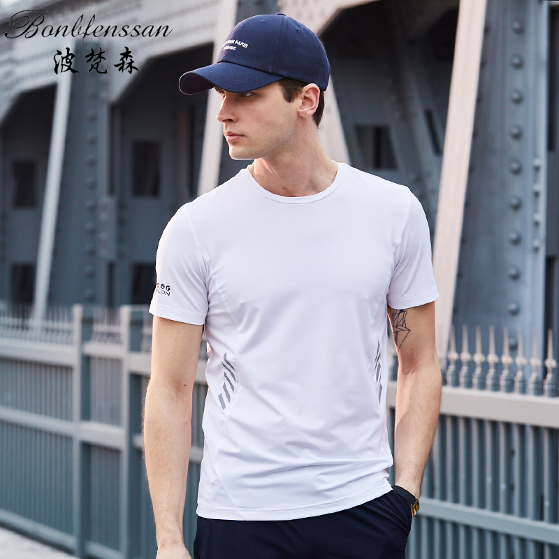 casual Quick-drying t-shirt Sports solid Short Sleeve tops Slim Fitness Running T-shirts Bodybuilding T-shirts men Hiking tops