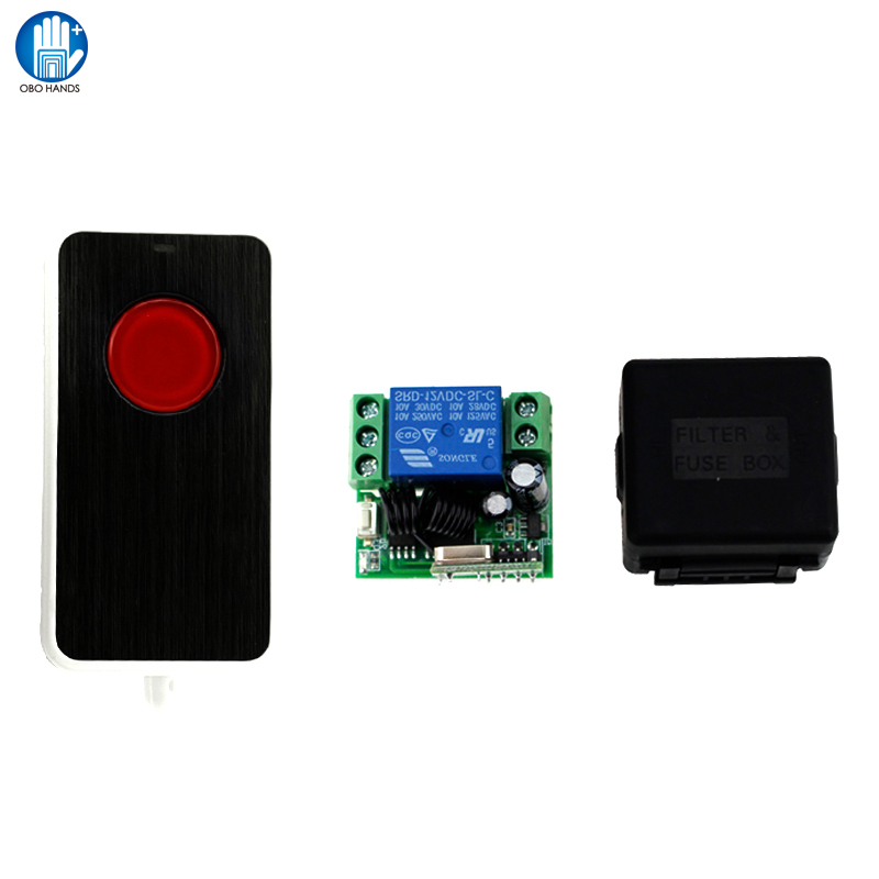 433MHZ Wireless Single Door Remote Control Of Plastics For Access Control System +Receiver Module +Box Of Access Control