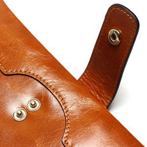 Image 5 - TAUREN 100% 정품 가죽 여성 전화 지갑 롱 지갑 레이디 오일 왁스 소 가죽 다중 카드 홀더 클러치 패션 지갑
