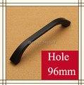 Single Knob  Hole Pitch 64mm/96mm Zinc Alloy handle modern handle Kitchen Furniture Handle  bedroom drawer handle black color