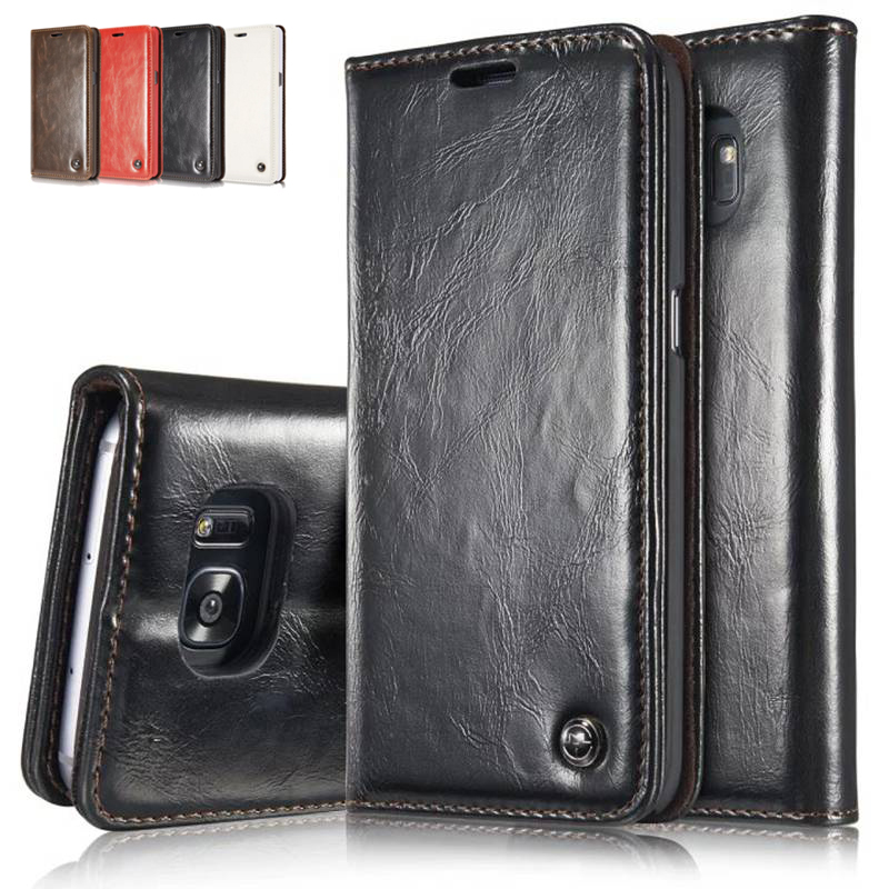 For Samsung Galaxy Note 7 Wallet Case 2016 Pouch Leather Phone Bag for Samsung S7 S7 Edge S5 S6 Edge Plus S4 S5 Mini Flip Cover
