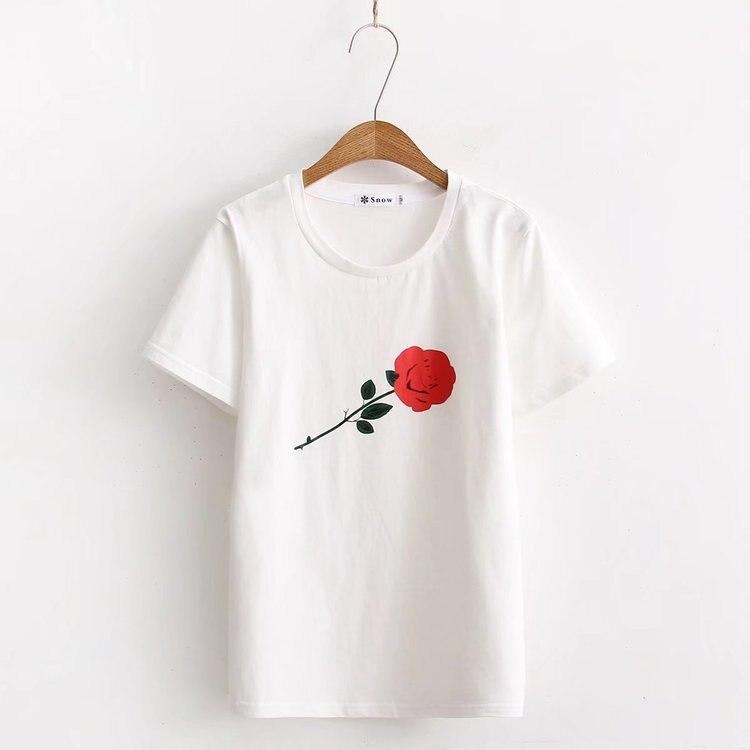 2018 nueva camiseta de mujer de moda original divertida camiseta suelta de verano para mujer camiseta casual de algodón con cuello redondo