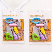 5 pçs/lote ferramenta de Reparo do conjunto série Papelaria Eraser Criativo Em Forma eliminador de borracha kawaii Material Escolar material de escritório aprendizagem