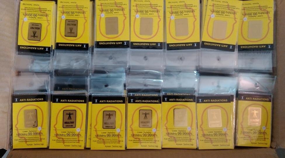 Factory Wholesale Gold EMF Mobile Phone Anti Radiation Sticker Anti Radiation Chip  Scalar Shield Energy Sticker 100pcslot