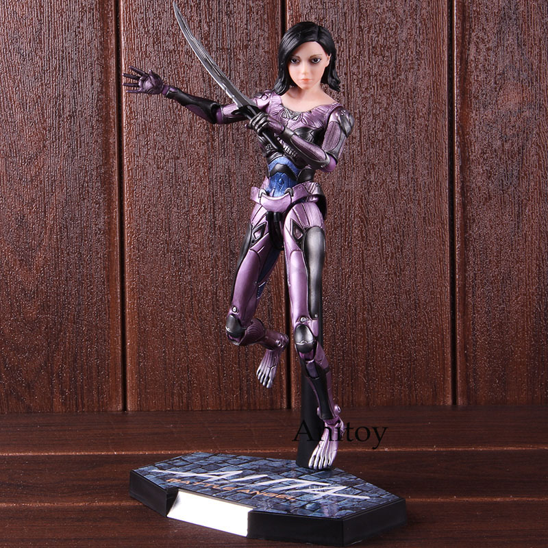 Alita Action Figure Legend Creation Alita Battle Figure 1/6 Scale Alita Figure PVC Collectible Model Toy 25.5cmAction & Toy Figures   -
