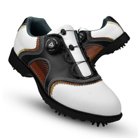 2020 Brogue Style Golf Shoes for Men Waterproof Breathable Golf Shoes Man Genuine Leather Non slip Spikes Sneakers D0602