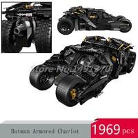 DHL DC Super Heroes Batcave Break in Batman Car Chariot Movie Series Building Blocks The Tumbler Model Toys For Children Gifts