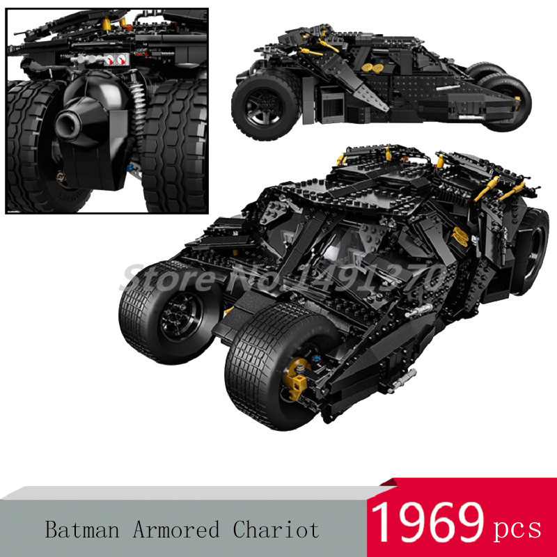 DHL DC Super Heroes Batcave Break-in Batman Car Chariot Movie Series Building Blocks The Tumbler Model Toys For Children Gifts цена и фото