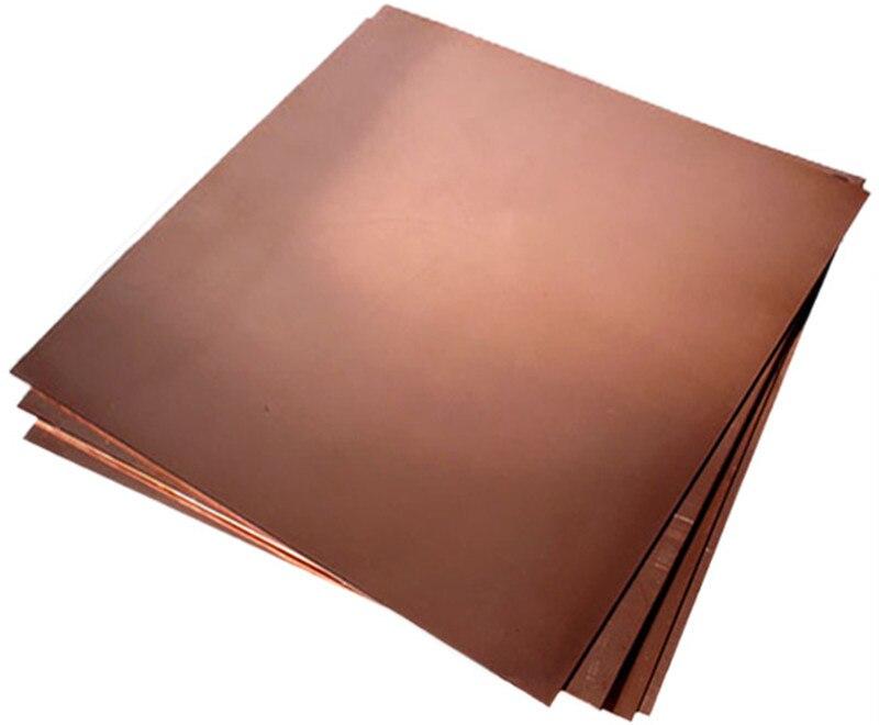 1PCS CP007 דק נחושת גיליון 100mm * 100mm * 5.0mm T2 נחושת צלחת למכור במחירי הפסד גיליון נחושת