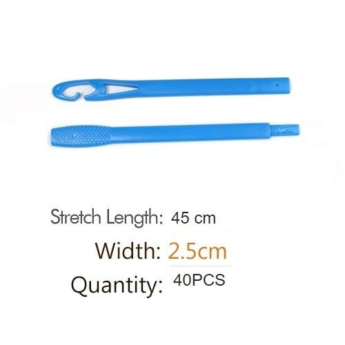 40pcs Hair curlers Rollers 45cm Shape Rolls Styling Curlaer Tools bigudies para pelo DIY At Home Natural Way  hair curlers