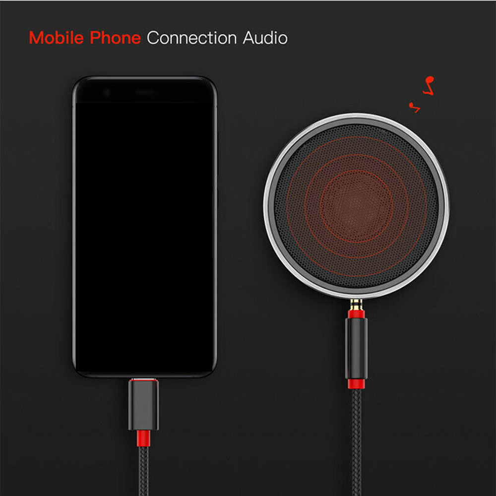 Для автомобильного динамика 3 5 мм штекер автомобильный AUX аудио адаптер AUX кабель 1M USB Type