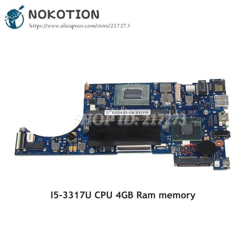 NOKOTION For Samsung NP530U3C Laptop Motherboard SR0N8 I5-3317U CPU 4GB Ram BA92-10452A BA92-10452B BA41-02022A BA41-02021A все цены