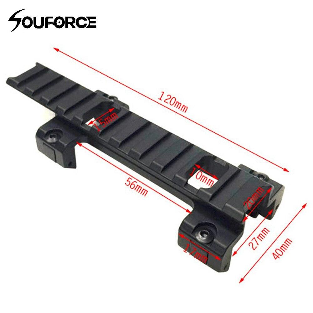 Longue 120mm Portée Supérieur Support de Base 20mm Adaptateur de Rail pour MP5 Airsoft Portée de Pistolet De Chasse Accessoires