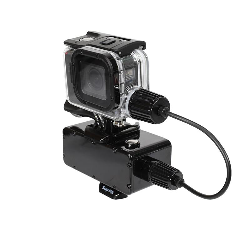 5200mAh Waterproof Power Bank Battery Charger Waterproof case for GoPro Hero 7 6 5 4 3+ 3 SJCAM YI 4K Action Camera Accessories