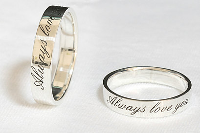 9b399b3829 customized couple rings promise rings Christmas gift birthday gift ...