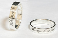 Customized Couple Rings Promise Rings Wedding Rings Engagement Rings Personalized Christmas Gift Birthday Gift Name Initials