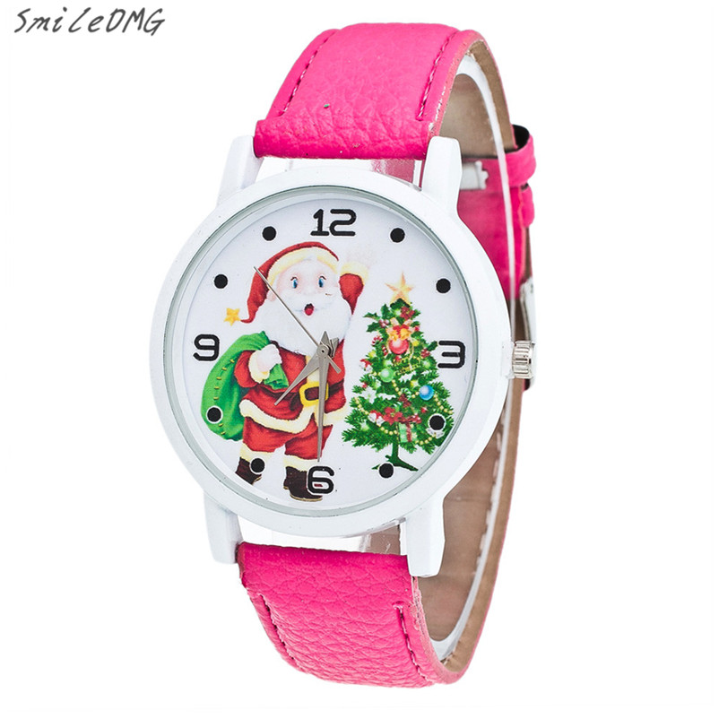 ᗗSmileomg Venta caliente casual moda Navidad antiguo patrón cuero ...