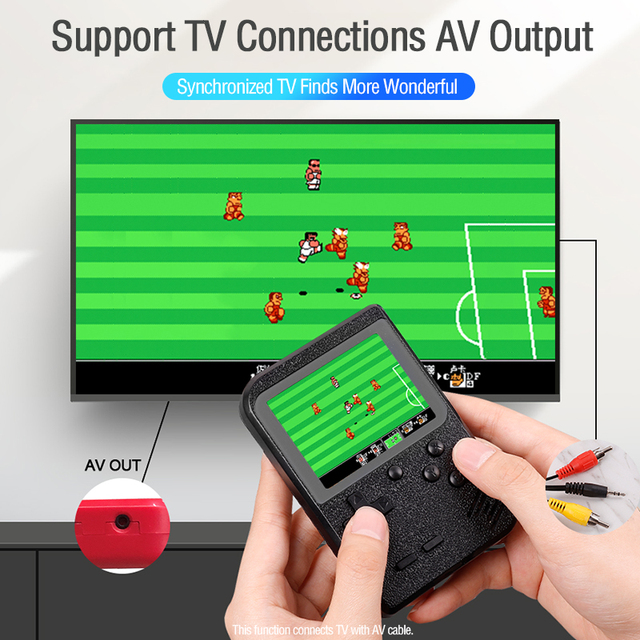 Retro Portable Mini Handheld Game Console 8-Bit 2.8 in Color LCD Screen Kid Video Handheld Game Player Built-in 400 Games on TV