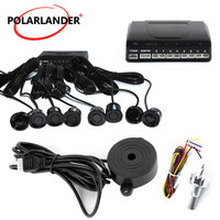 high quality Car Parking Sensor without Monitor 8 sensors 9 colors to choose for rear and front sound alert buzzer system