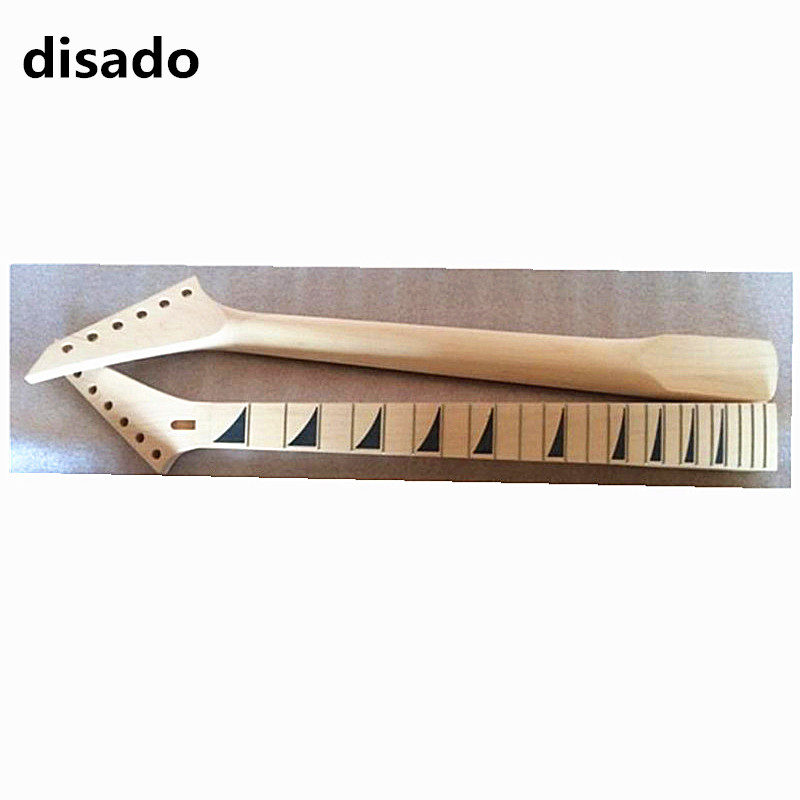 disado 24 Frets Maple Electric Guitar Neck Maple Fingerboard Guitar Parts Musical instruments accessories цена