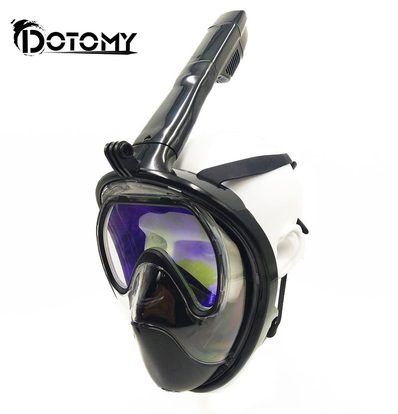 Diving Mask Carbon fiber plating Full Face Anti fog mask Snorkeling adult Anti skid Underwater mask