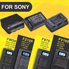 NP FW50 NP FZ100 NP F960 970 NP FV100 LCD USB çifte şarj makinesi için Sony kamera pil