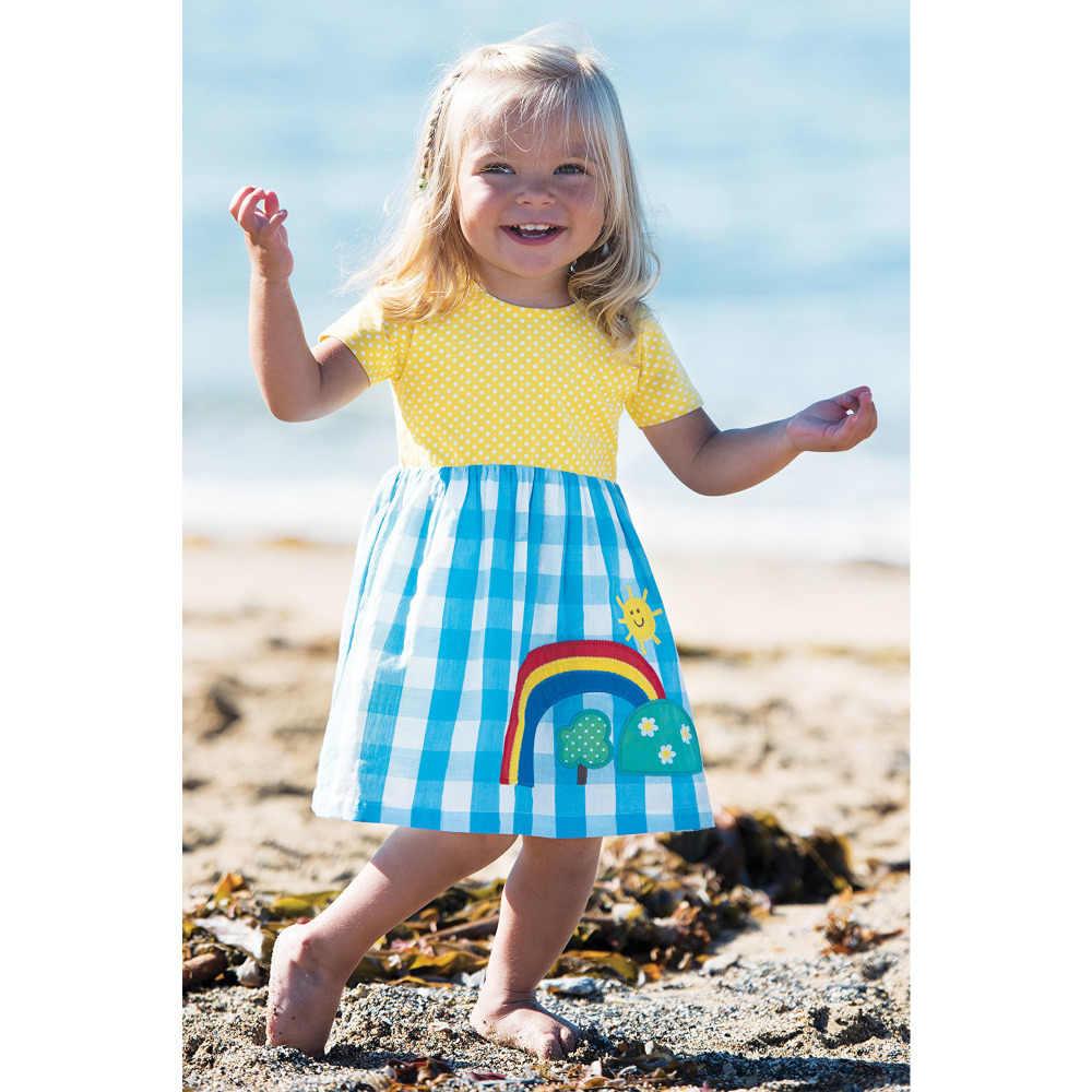 Nhảy Mét Bé Đầm Bé Gái Họa Tiết Hình Thú Công Chúa Kỳ Lân Đầm Cho Bé Gái Trang Phục Trẻ Em Đầm Dự Tiệc Quần Áo Trẻ Em 2-7Y