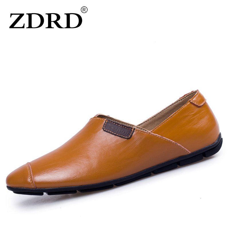 ZDRD Mens casual shoes genuine leather handmade formal flats shoes wedding dress brogues oxfords huarache shoes zapatos hombre блокнот мои артсписки моне водяные лилии а6