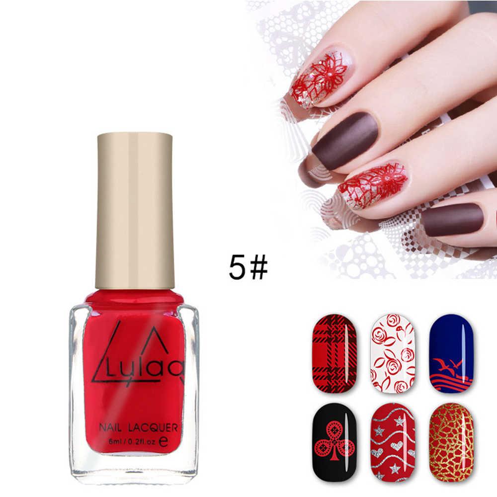 6 ML 12 kolory błyszczące holograficzny lakier do paznokci żel do paznokci lakier do paznokci Art Manicure żel do Lakiery DIY piękno dekoracji do paznokci TSLM1