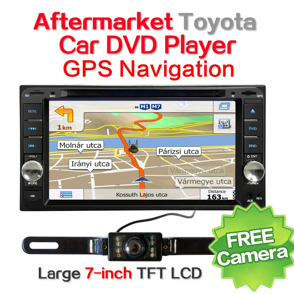 Car Navigation 7inch 1G 16G for Toyota Corolla Camry Celica,Corolla, Echo,FJ Cruiser,Hiace,Hilux with DVD GPS Rearview camera